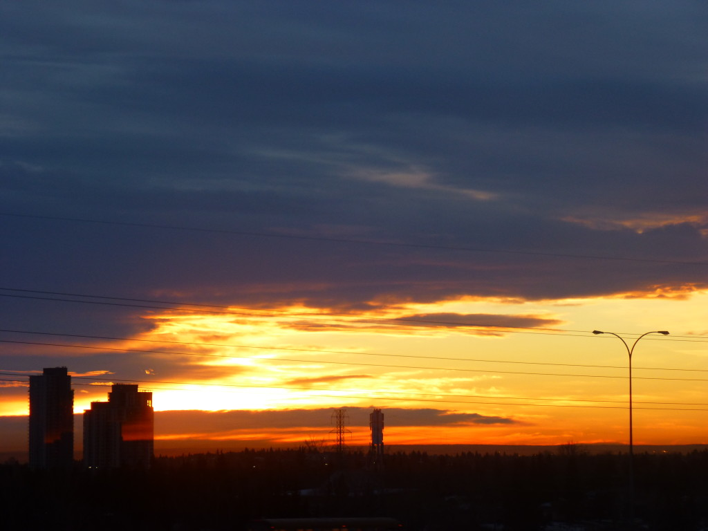 Winter Sunrise in Calgary AB