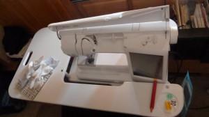Husquvarna Sewing Machine and SewEzi Table