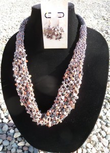 Bead Along on Beading Daily - Netted Chip Necklace