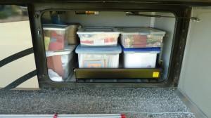 Mobile Studio - Supply Storage on sliding t