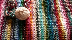 Double Strand Crocheted Afghan