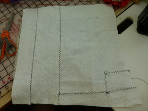 Recycled Quilt Batting Stitching