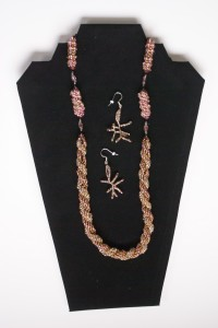 Double Spiral Beaded Necklace