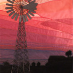 Mixed Media/Fibre Art, Kansas Sunset - Waiting for a Breeze c Diane Duncan 2014