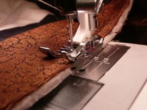 Stitching the binding
