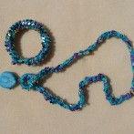 Crochet and Bead Necklace