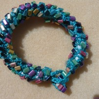 Crochet and Bead Bracelet