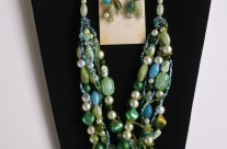 Bead Necklace and Earrings 2 – Recycled Beads