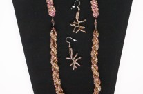 Bead Necklace and Earrings 1 – Double Spiral Beading