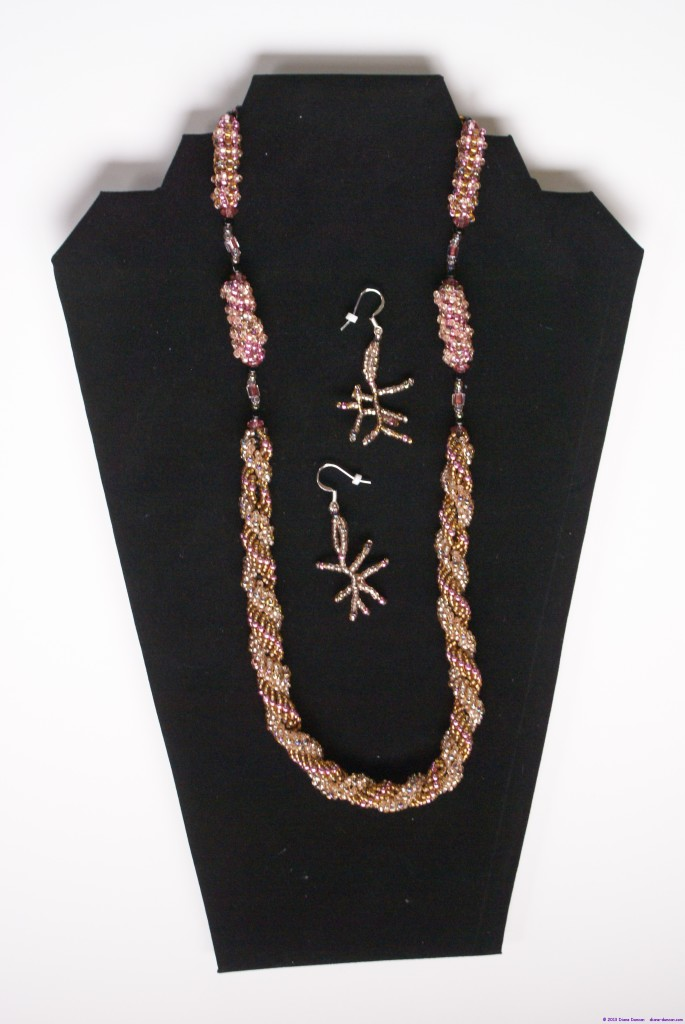 Bead Necklace and Earrings 1
