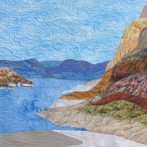 Waterline on Lake Mead, NV – A Quilt Art Statement