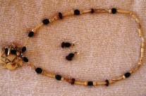 Bone/Horn Bead Necklace 7