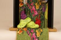A Garden Moment – Quilt Art Assemblage