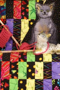 The Homemaker - Detail, Quilt Art Assemblage