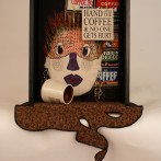'Coffee Jolt' – Quilt Art Assemblage