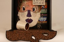 'Coffee Jolt' – Quilt Art Assemblage