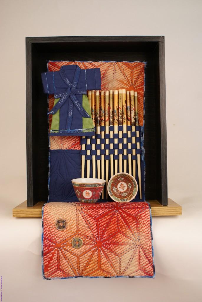 Oriental Moment - Quilt Art Assemblage