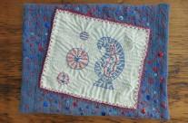 Journal Page – Kantha Stitch Sampler