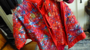 One of Donna's numerous wearable art creations
