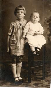 Evelyn Mather & brother Gordon