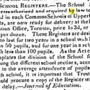 Some School History – Context for Glen Tay Public School