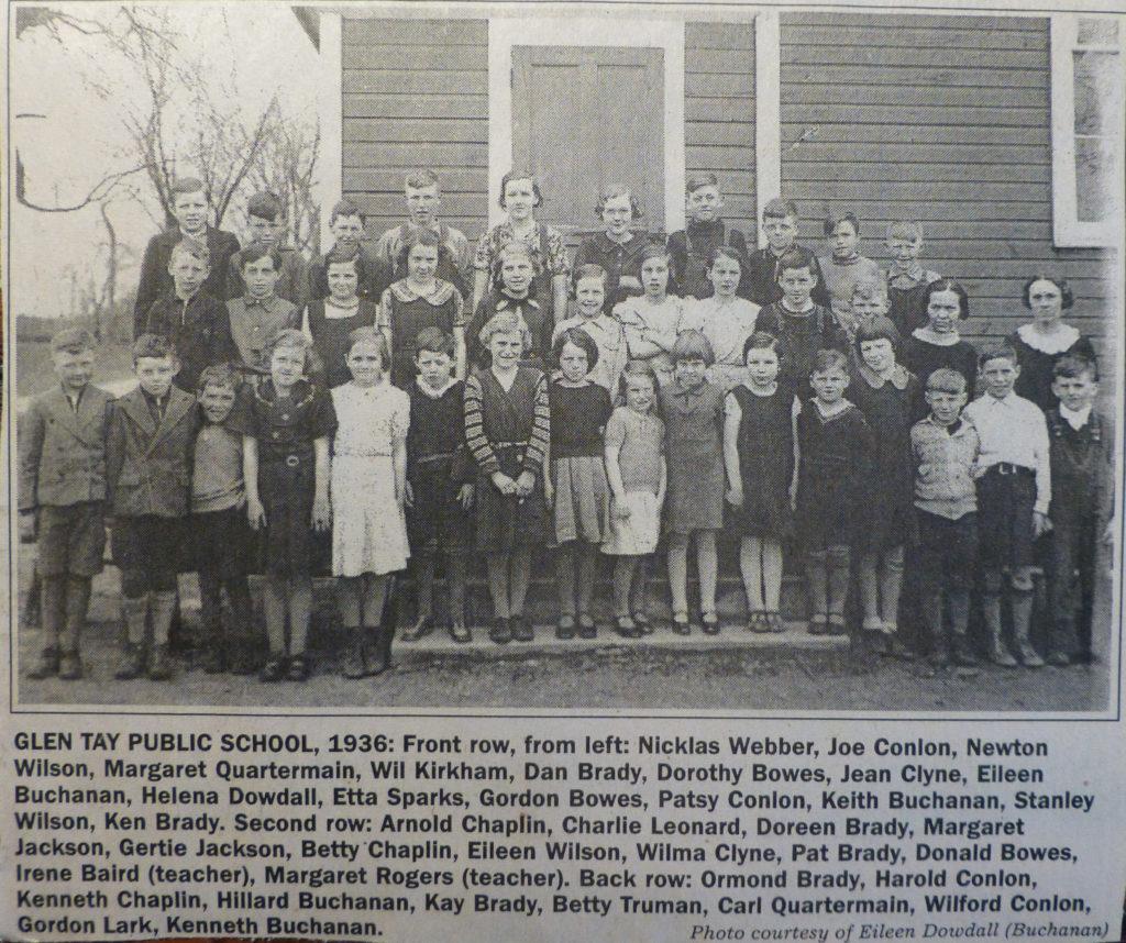 Glen Tay Public School, SS#3 Bathurst Township, Lanark County