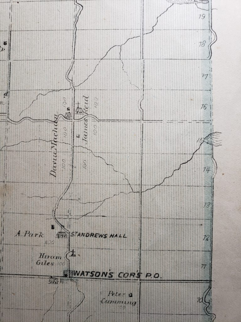 Map portion of Dalhousie Twp