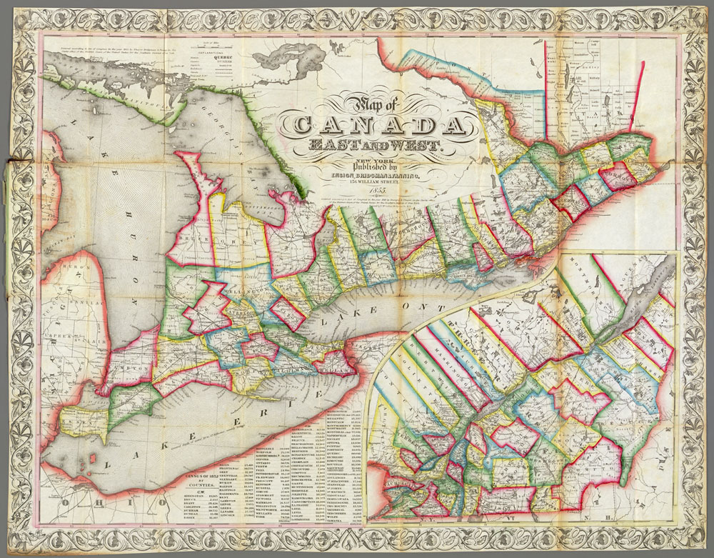 From Lanark to Simcoe & the Huron Tract
